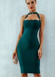 Zielona sukienka Rare dopasowana