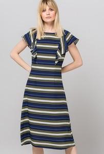 511939d9a80093 Sukienka Monnari z krótkim rękawem z okrągłym dekoltem w stylu casual