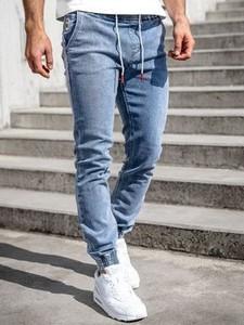 Jeansy Denley z jeansu w stylu casual