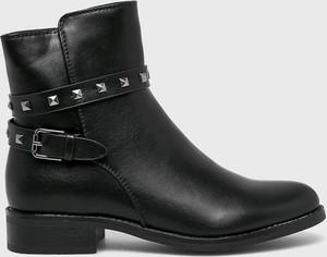 Czarne botki Answear