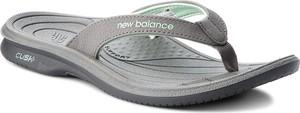 Klapki New Balance ze skóry ekologicznej