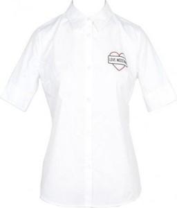 Bluzka Love Moschino z bawełny z kołnierzykiem