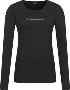 Bluzka Emporio Armani z długim rękawem w stylu casual z okrągłym dekoltem