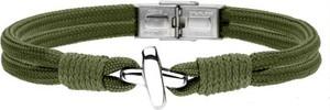 Manoki BA754Z zielona bransoletka męska z symbolem X