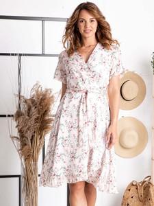 Sukienka Grandio z szyfonu z dekoltem w kształcie litery v