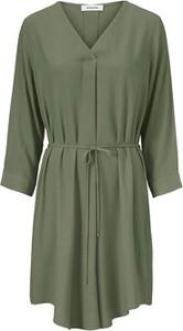 Zielona sukienka ModstrÖm mini z długim rękawem