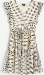 Sukienka Reserved z dekoltem w kształcie litery v w stylu casual bez rękawów