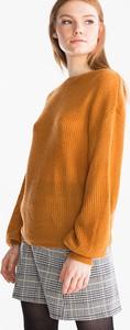 Żółty sweter CLOCKHOUSE w stylu casual