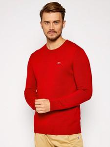Czerwony sweter Tommy Jeans w stylu casual