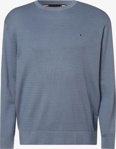 Sweter Tommy Hilfiger z dzianiny z okrągłym dekoltem w stylu casual