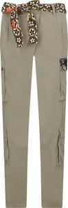 Brązowe spodnie Pinko w militarnym stylu