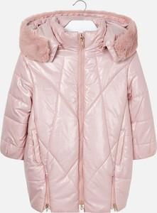 Różowa kurtka dziecięca Mayoral z tkaniny