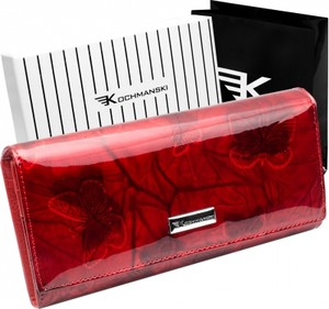 Czerwony portfel Kochmanski Studio Kreacji®
