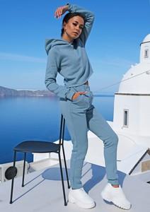 Niebieskie spodnie sportowe Mosquito z dzianiny w sportowym stylu