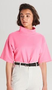 Bluzka Cropp z krótkim rękawem z golfem