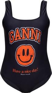 Czarny strój kąpielowy Ganni