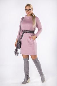 Różowa sukienka candivia.pl z długim rękawem mini