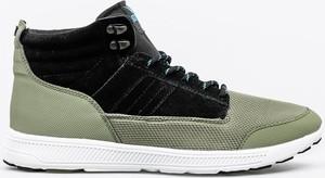 Zielone buty sportowe Supra w sportowym stylu sznurowane