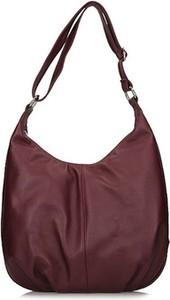 Czerwona torebka Toscanio w stylu casual matowa średnia