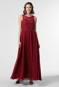 Czerwona sukienka Laona rozkloszowana maxi z szyfonu