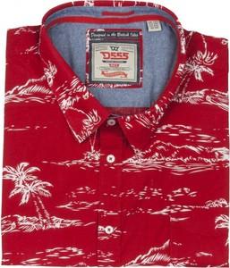Koszula D555 z krótkim rękawem w młodzieżowym stylu
