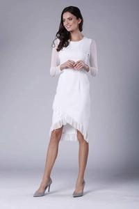 Sukienka Nommo midi z okrągłym dekoltem