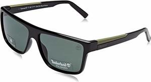 amazon.de Timberland TB9156 01R 61, oprawki okularów, uniseks, czarne (Nero Lucido\\Verde Polar)