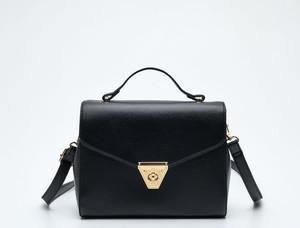 Czarna torebka Sinsay średnia matowa