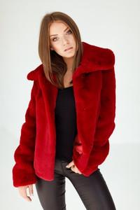 Czerwona kurtka Smoke Furs w stylu casual