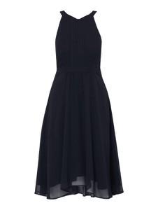 Granatowa sukienka Esprit midi bez rękawów