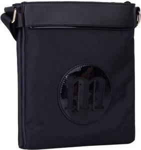 Czarna torebka Monnari ze skóry ekologicznej na ramię matowa