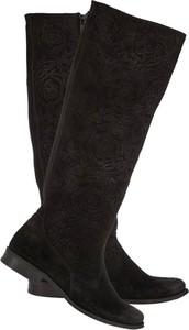 Czarne kozaki Lafemmeshoes ze skóry w stylu casual