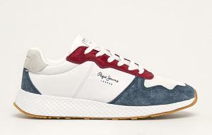 Sneakersy Pepe Jeans sznurowane z płaską podeszwą