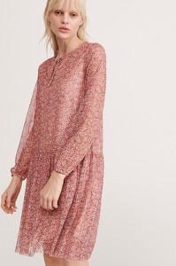 Sukienka Reserved w stylu casual z żabotem