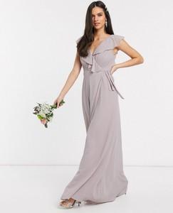 Sukienka Tfnc bez rękawów maxi z dekoltem w kształcie litery v