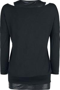 Czarna bluzka Emp w stylu casual