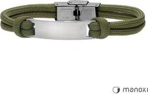 Manoki BA702Z bransoletka męska z blaszką pod grawer, wojskowa zieleń