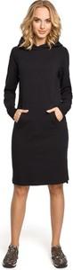 Sukienka MOE oversize midi z długim rękawem