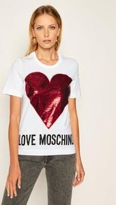 T-shirt Love Moschino z okrągłym dekoltem