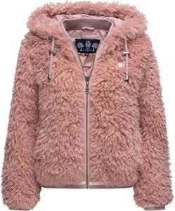Różowa kurtka Marikoo z plaru w stylu casual