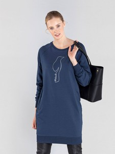 Sukienka Ochnik mini z bawełny w stylu casual
