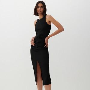 Czarna sukienka Reserved maxi bez rękawów