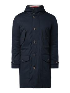 Granatowa kurtka Tommy Hilfiger z bawełny w stylu casual