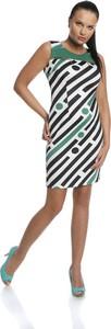 Sukienka Fokus z okrągłym dekoltem midi dopasowana
