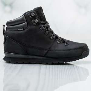 Czarne buty trekkingowe Sneakers sznurowane