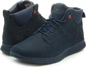 Granatowe buty zimowe Timberland w stylu casual sznurowane