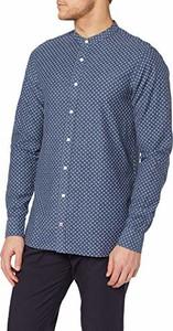 Niebieska koszula amazon.de z długim rękawem