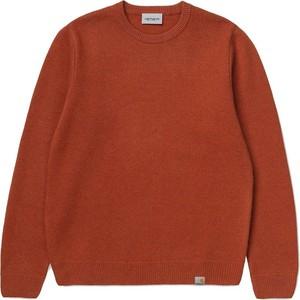 Pomarańczowy sweter Carhartt WIP z okrągłym dekoltem