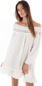Sukienka 100% Lin oversize z długim rękawem