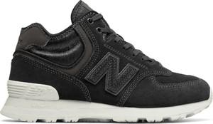Brązowe buty sportowe New Balance w street stylu z zamszu z płaską podeszwą